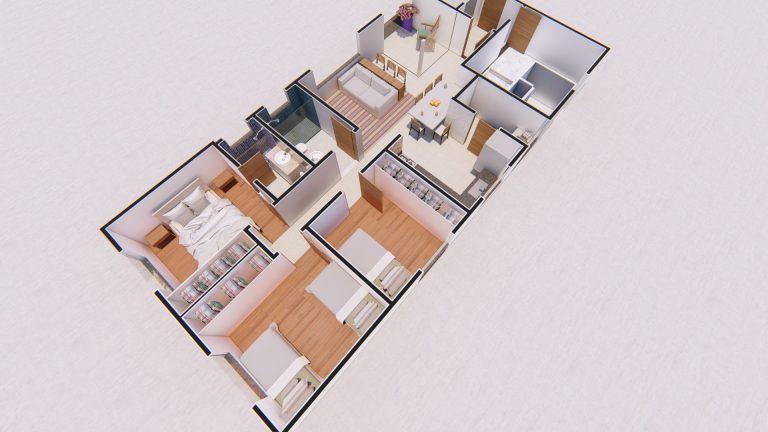 Planta Apartamento 301-1