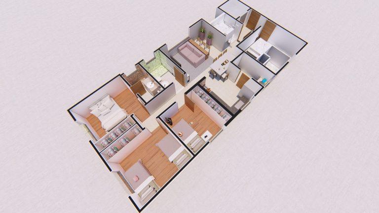 Planta Apartamento 401-1