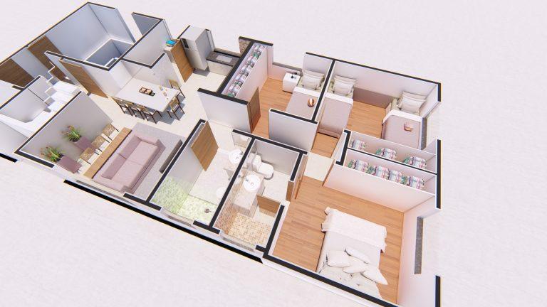Planta Apartamento 401-3
