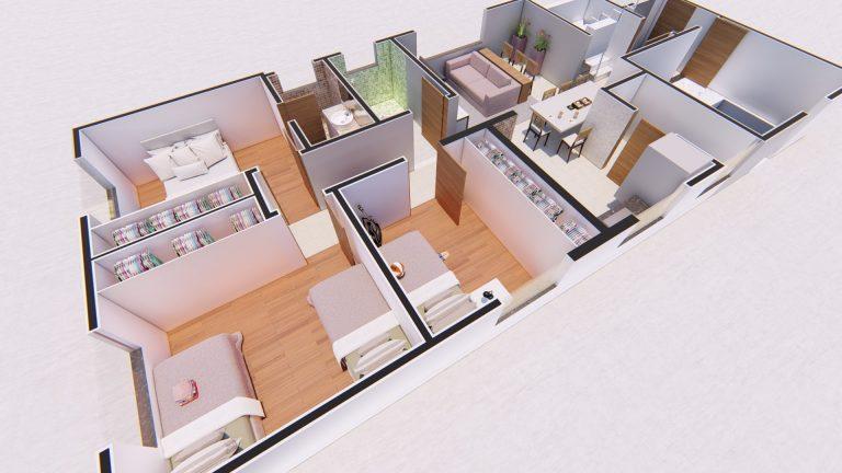 Planta Apartamento 401