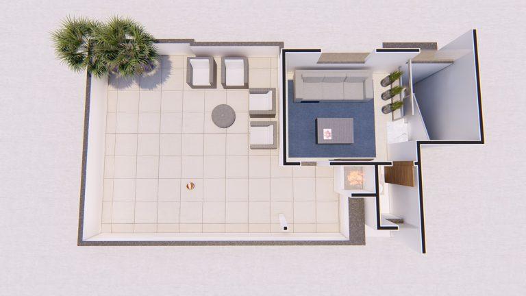 Planta Apartamento - Cobertura 401-1